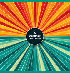abstract colorful sun burst of circle in summer vector image