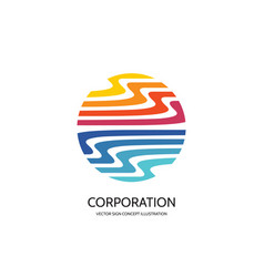 abstract logo template creative vector image