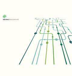 Abstract technology perspective background green vector