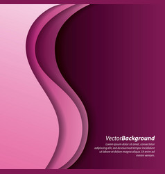 abstract wave pink curve purple background vector image