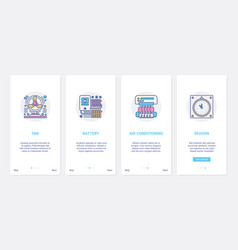 Air conditioning heating home appliances ux ui vector