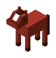 Animal isometric isolated icon vector