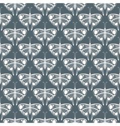 Art deco pattern with butterflies vector