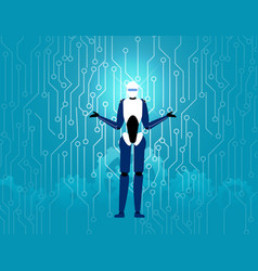 artificial intelligence technology robot in vector image