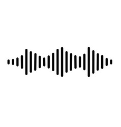 audio signal icon on white background flat style vector image