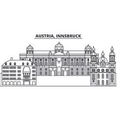 Austriainnsburck line skyline vector