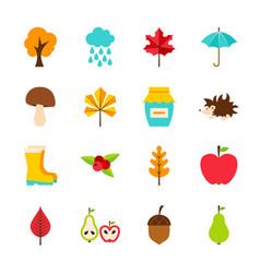 Autumn flat objects vector