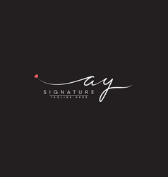 Ay initial letter logo - handwritten logo vector