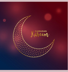 beautiful moon design in golden color vector image