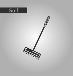 Black and white style icon rake vector