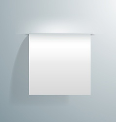Blank white sheet of paper sticking out of the vector