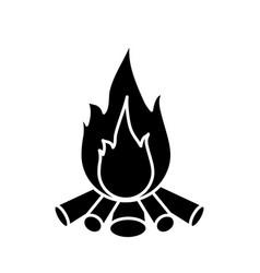 bonfire icon image vector image