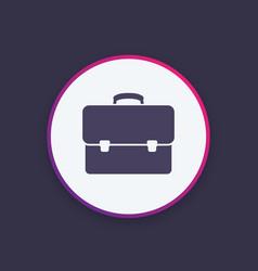 Business briefcase bag icon vector