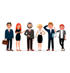 Business people standing together vector