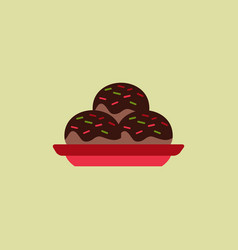 Cake on plate vector