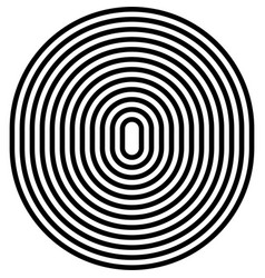 circle black and white lines stripes vector image
