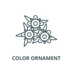 color ornament line icon linear concept vector image