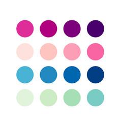 Color pallet gradient template design vector