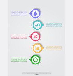 creative infographics elements eps10business ideas vector image