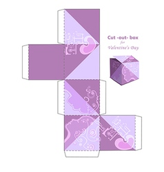 Cut out box vector