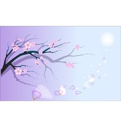 Decorative romantic branch vector