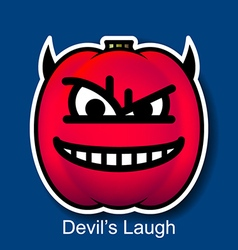 Devils laugh vector