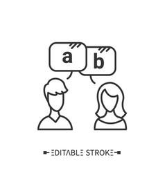 Dialogues icon editable vector