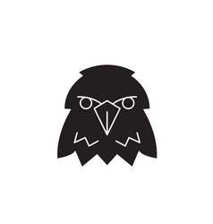 eagle head black concept icon eagle head vector image