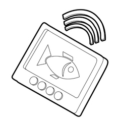 Echo sounder icon outline style vector