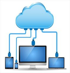 Electronic device connected to the cloud computing vector