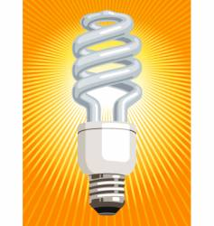 Energy saver light bulb vector