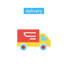fast shipping delivery truck icon vector image