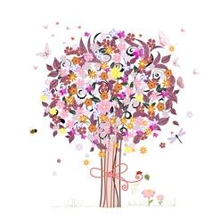 Festive romantic tree vector