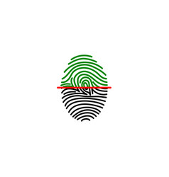 Fingerprint on scanner access vector