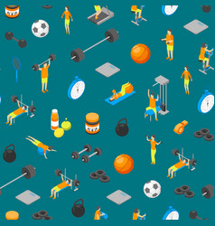 fitness club concept seamless pattern background vector image