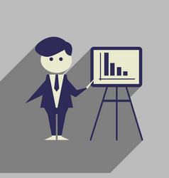 flat web icon with long shadow businessman vector image