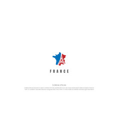 france map with paris eiffel tower for travel vector image