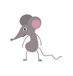Funny mouse personage vector