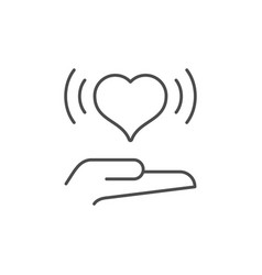 giving love line outline icon vector image