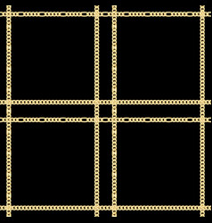 golden chains check seamless pattern on vector image
