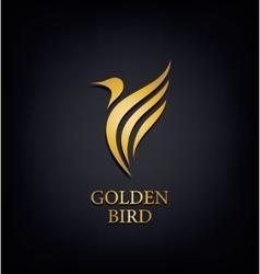 Golden Phoenix bird brand animal logoluxury vector image