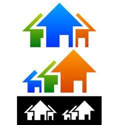 House composition real estate concept vector