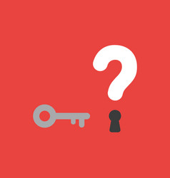 icon concept of key and question mark with vector image