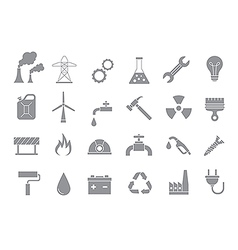 Industry work gray icons set vector image vector image