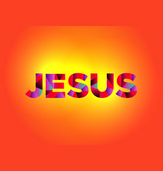 jesus theme word art vector image