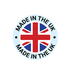 made in uk britain flag logo english brand vector image
