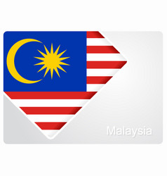 Malaysian flag design background vector