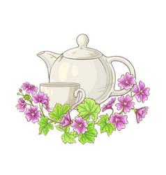 malve tea vector image