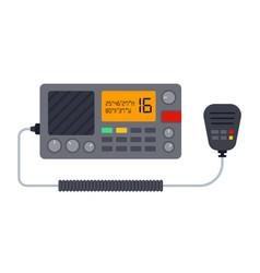 Marine radio icon flat isolated vector