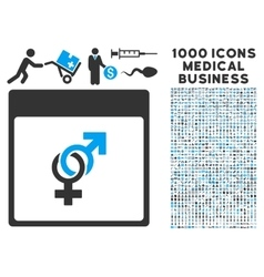Marriage Calendar Page Icon With 1000 Medical vector